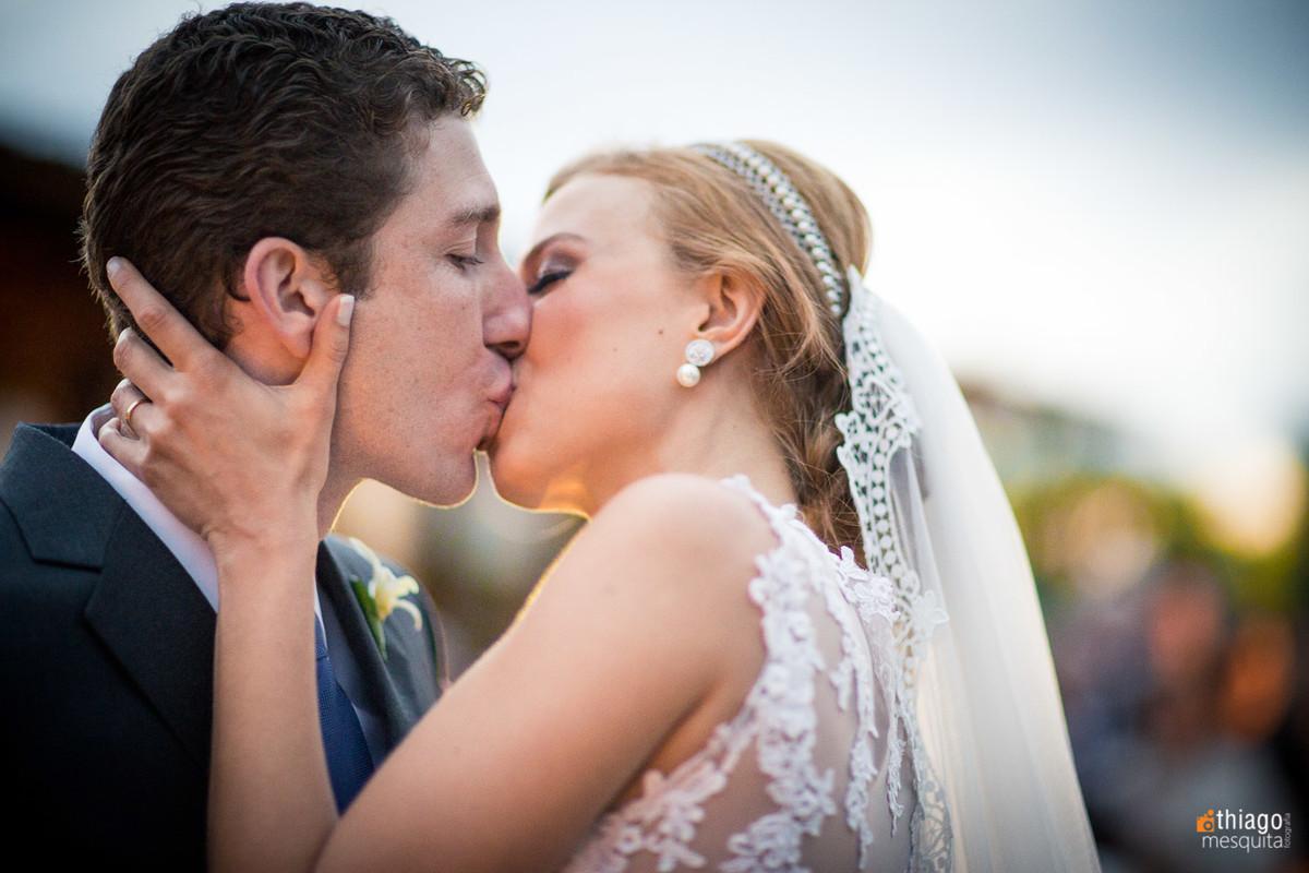 Beijo dos noivos, casamento em são Paulo