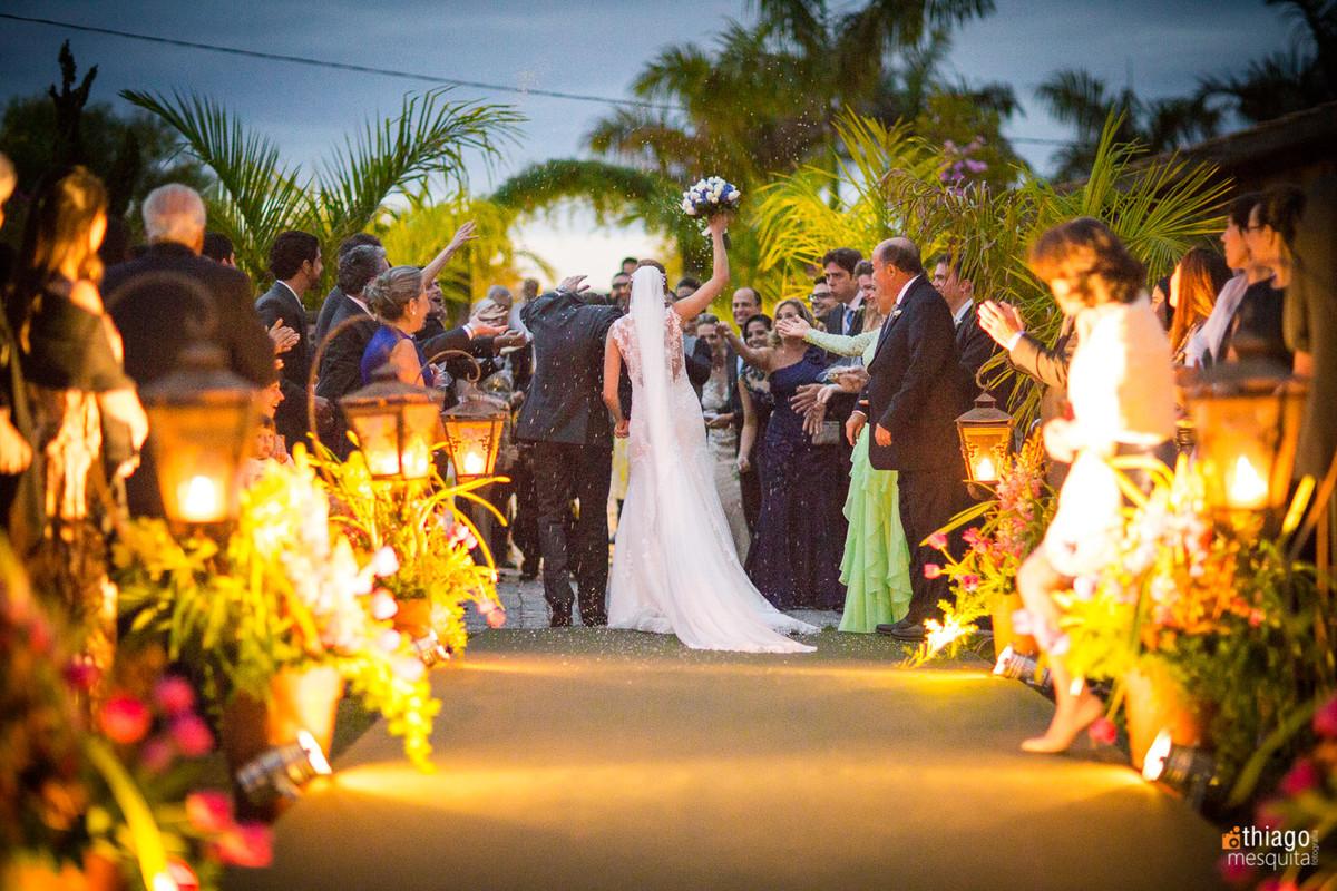 saída dos noivos, fotografo de casamento Thiago Mesquita