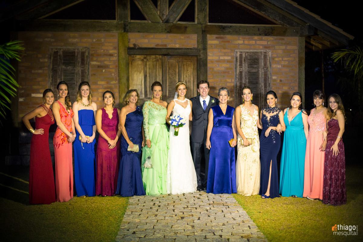 Registro foto de familia no casamento em São Paulo