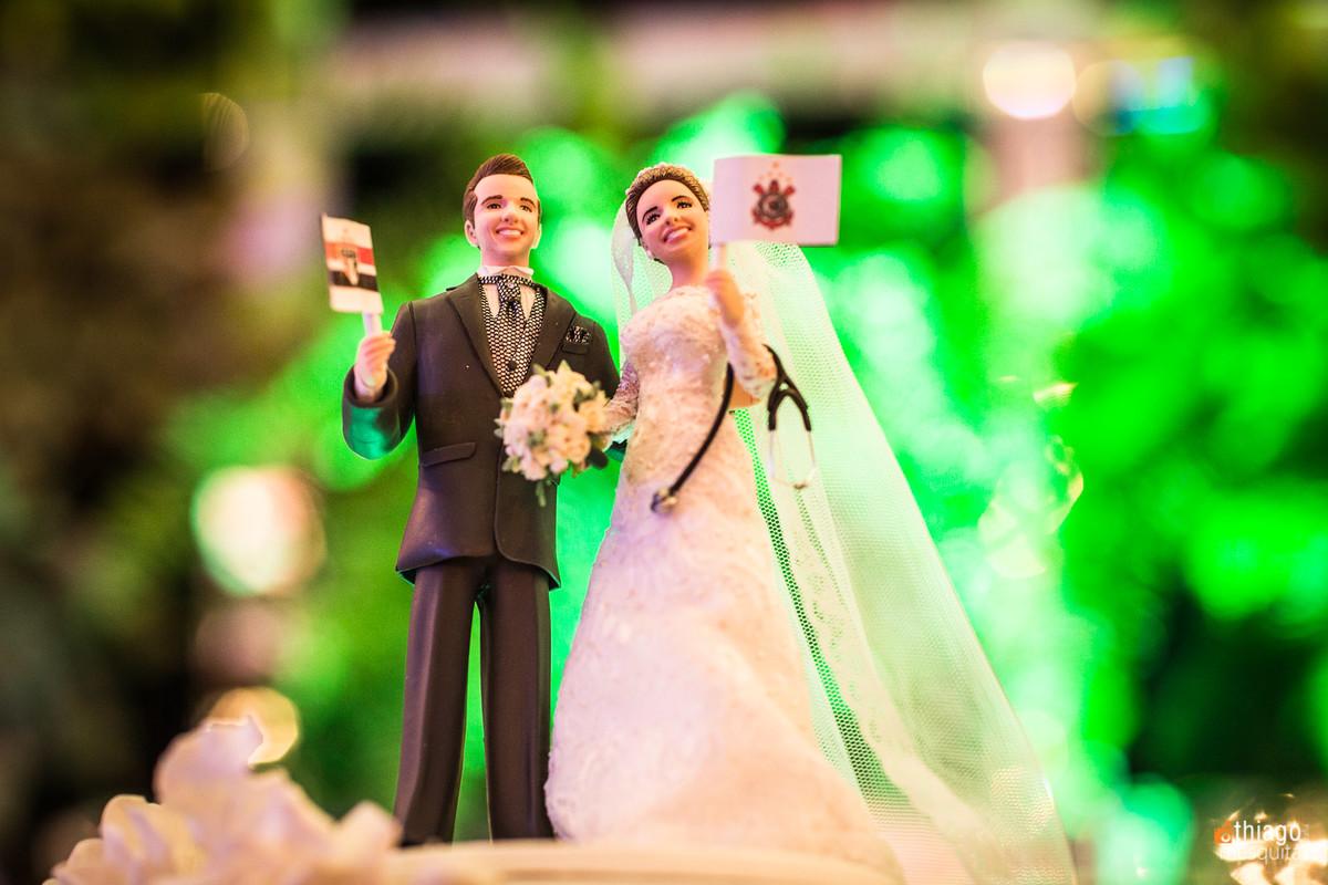 Topo de Bolo, Casamento Danielle e Raphael