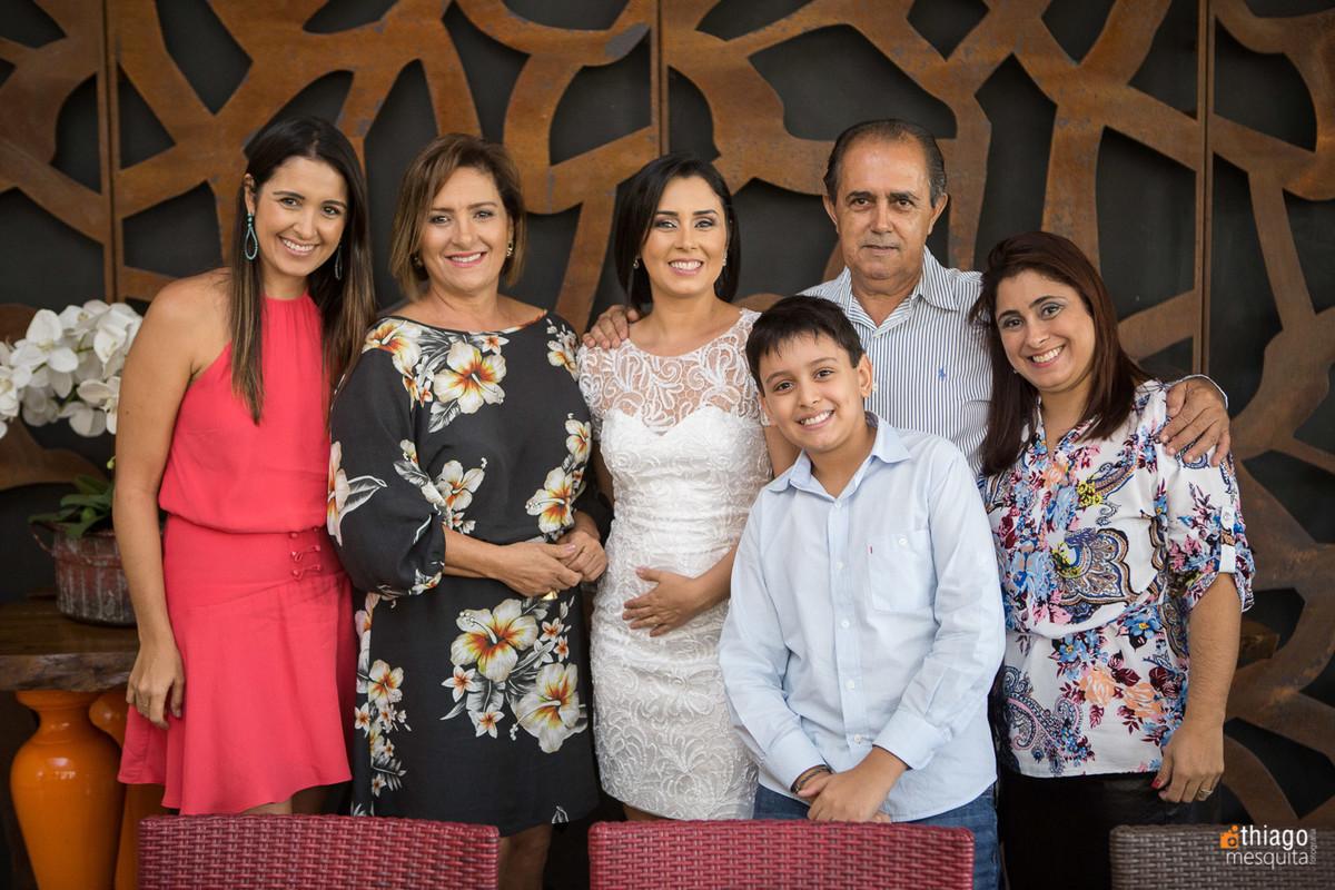 Fotografia de Familia em Casamento Civil