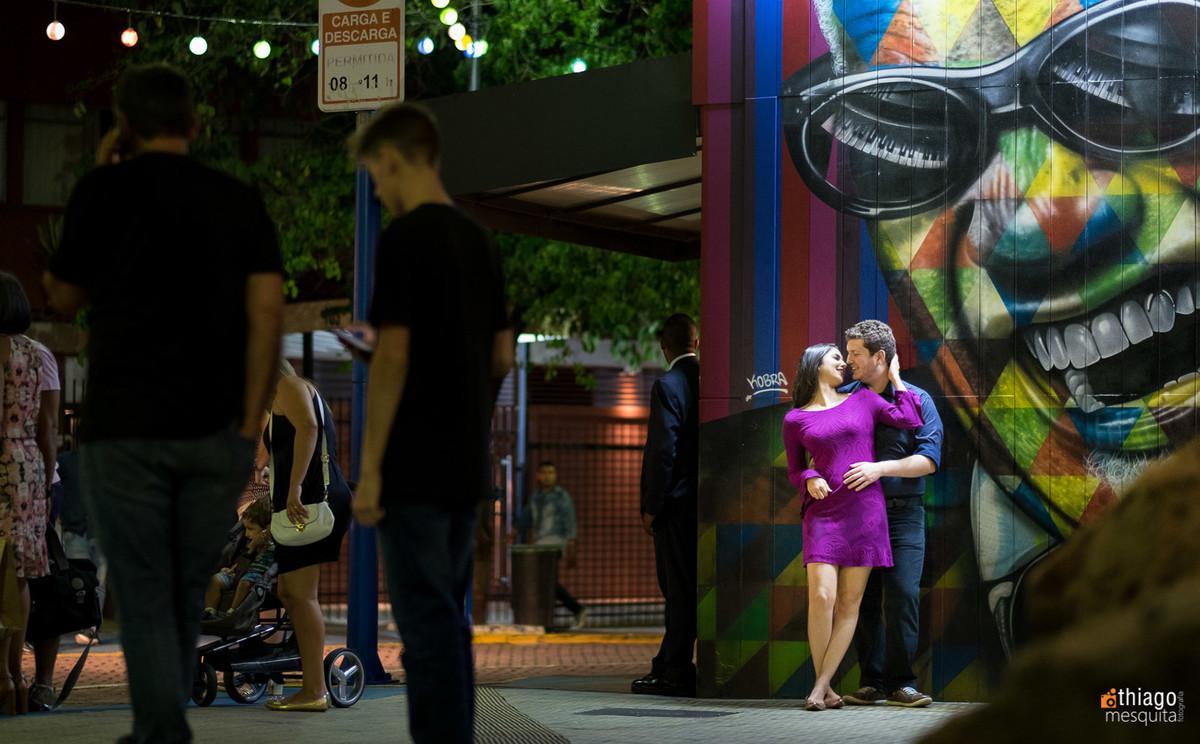 prewedding nas ruas noturnas de São paulo