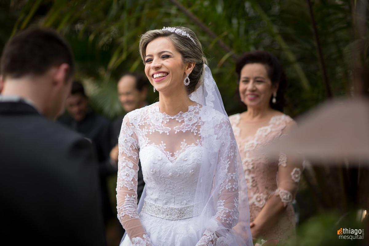 foto espontânea de noiva