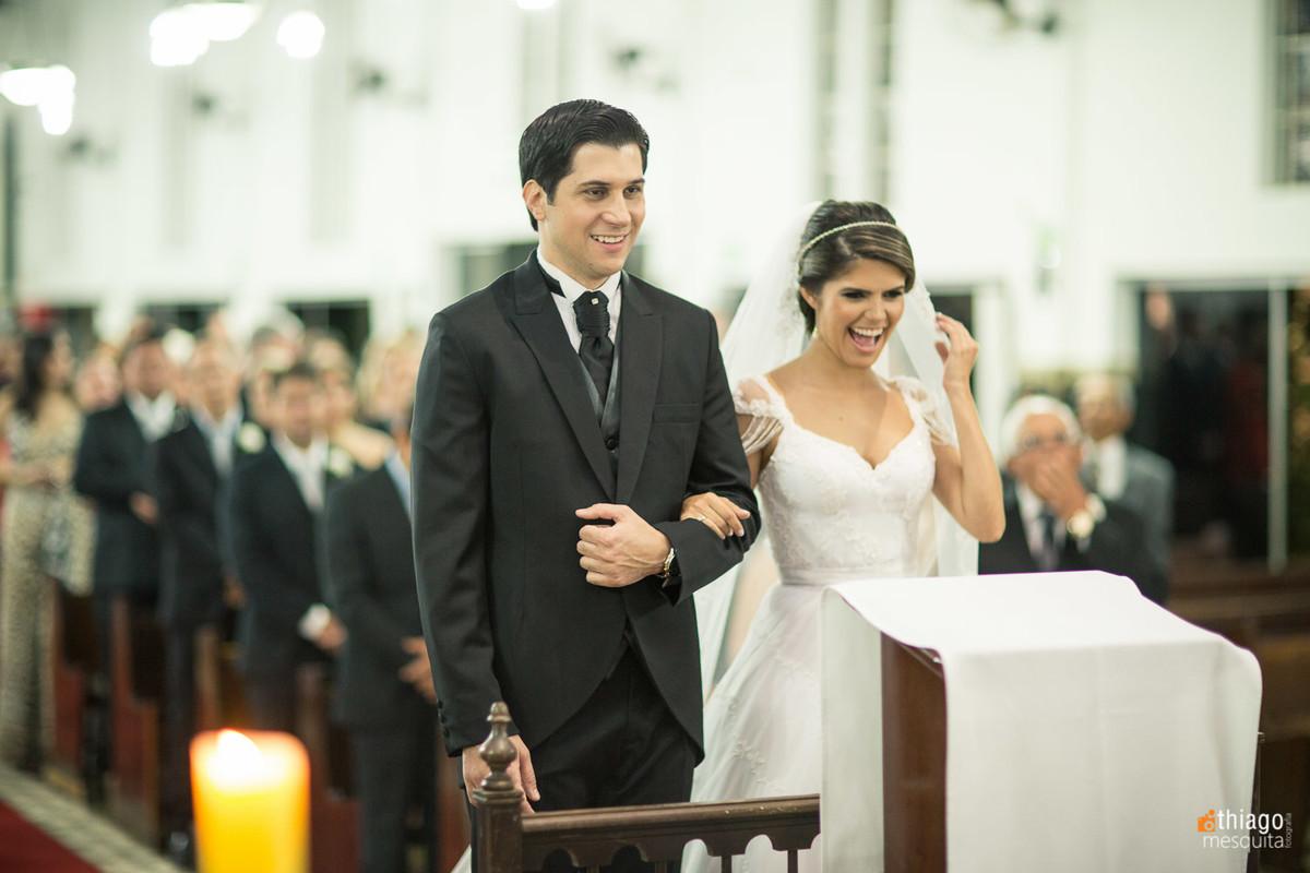 Foto espontânea de Casamento