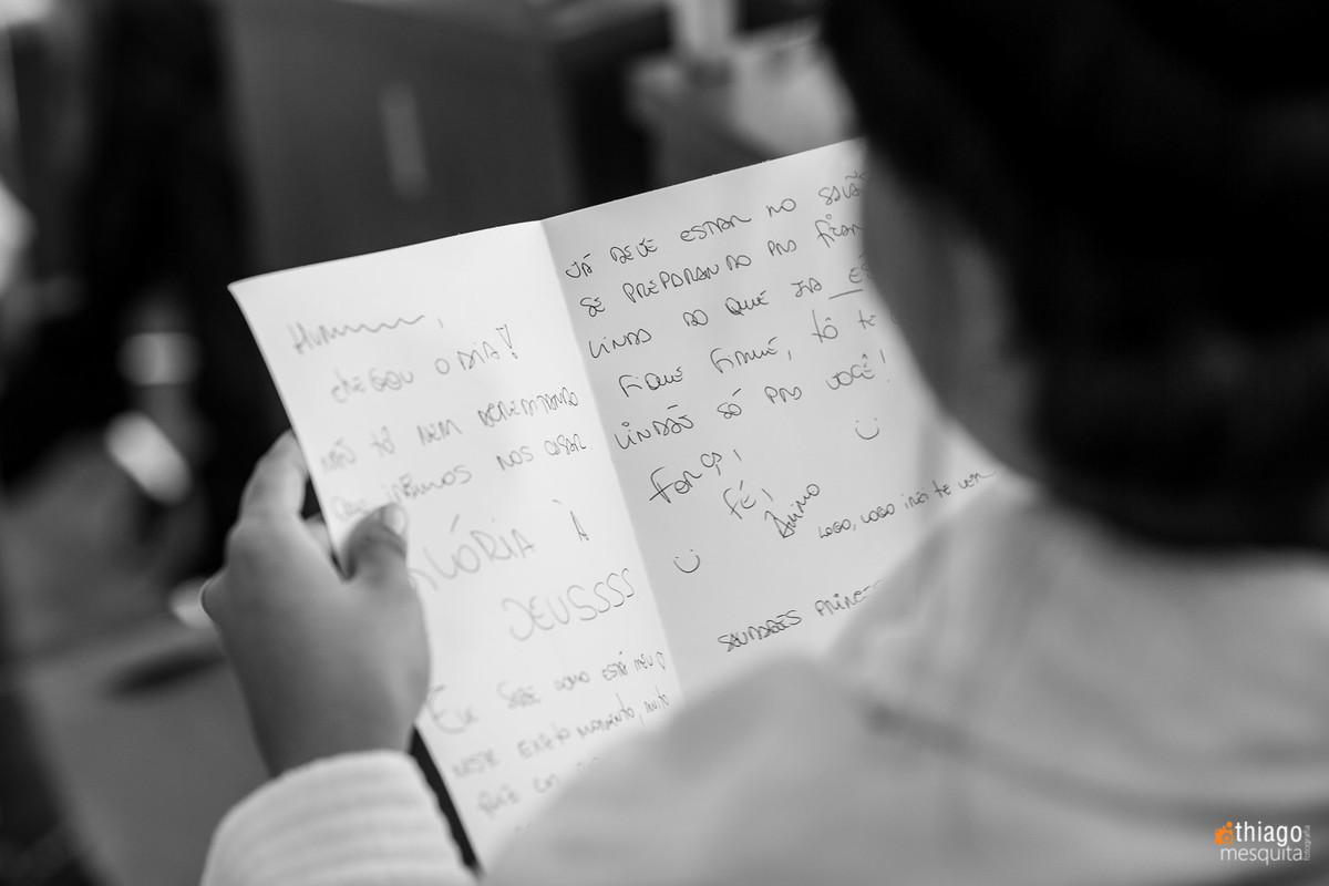 Carta da noiva para o noivo