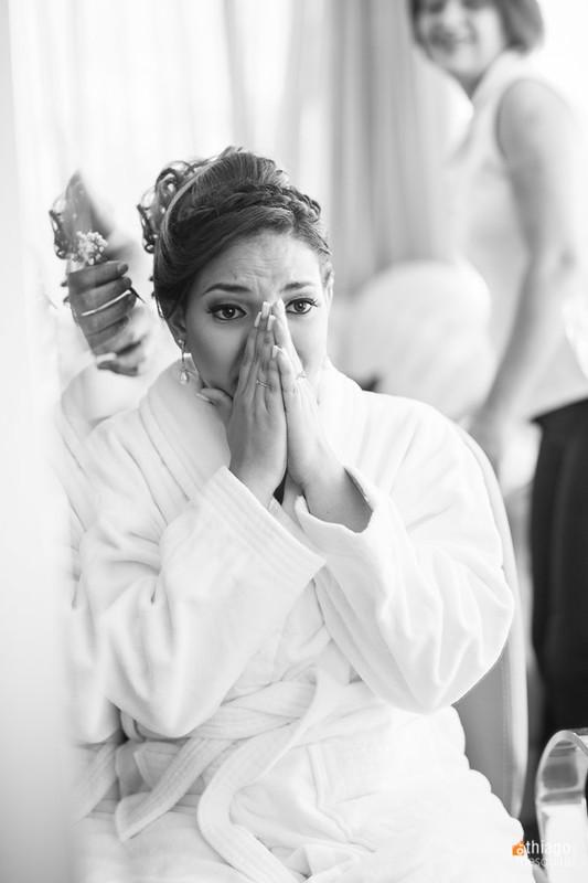 Noiva emocionada - Uberlândia