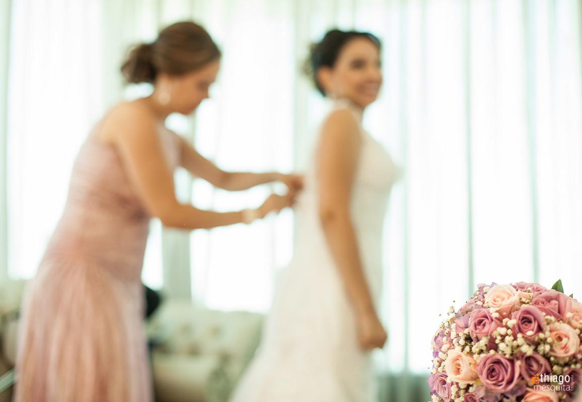 Making of da noiva com a mãe