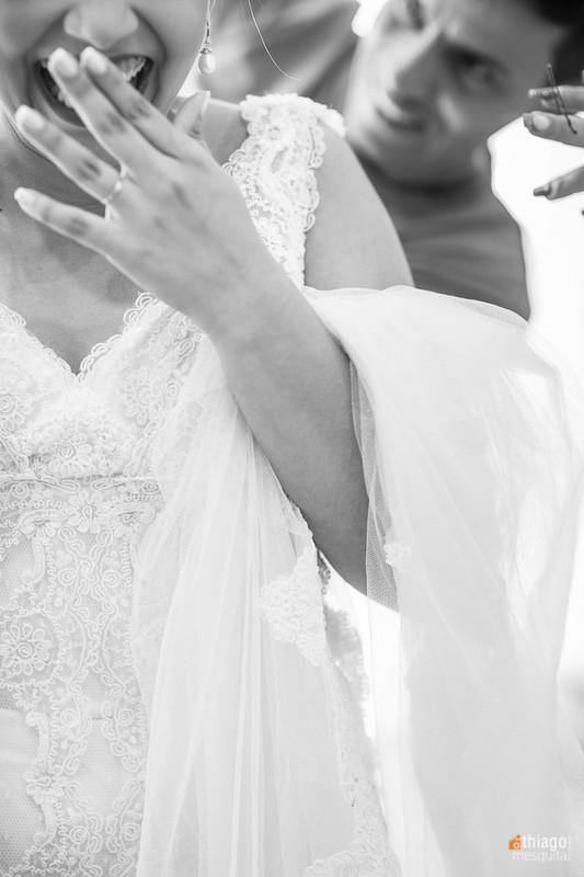 Muita emoção no dia do casamento