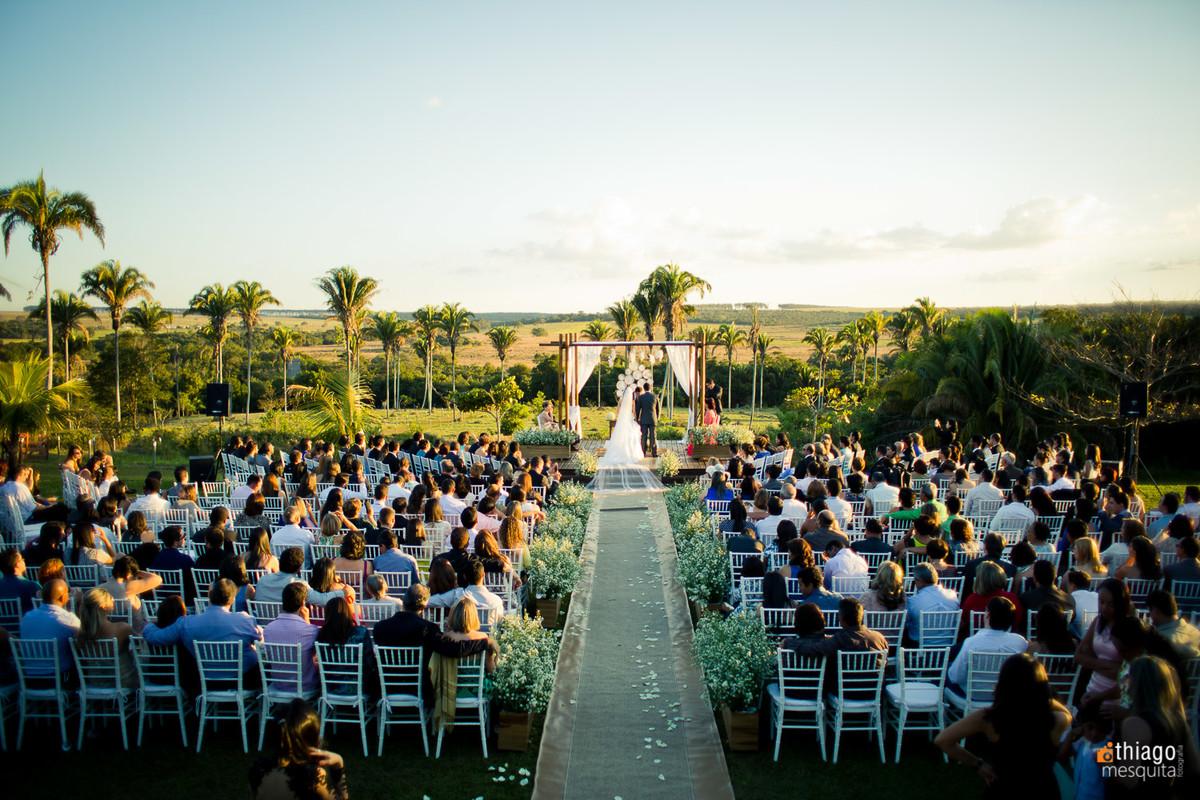 casamento fim de tarde com por do sol em chacara manancial - Uberlândia MG