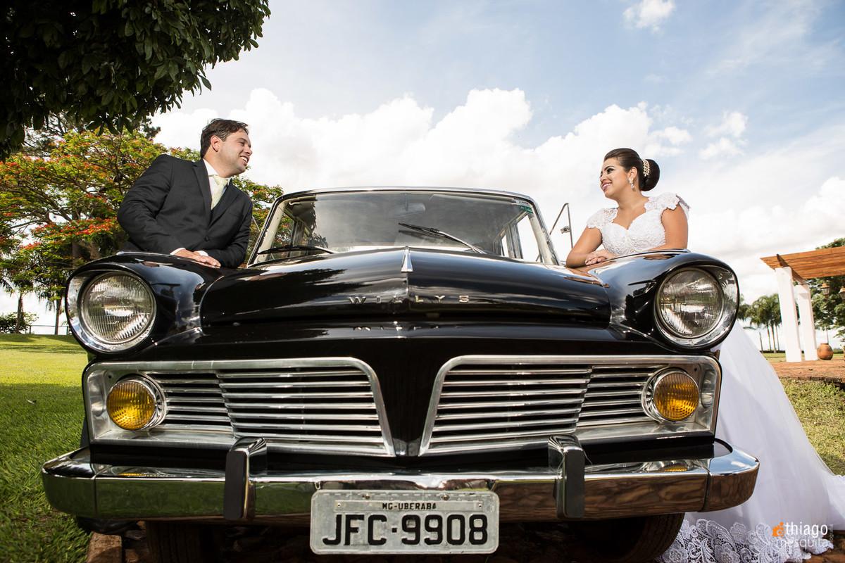 bride's car uberaba - janaína e phelipe
