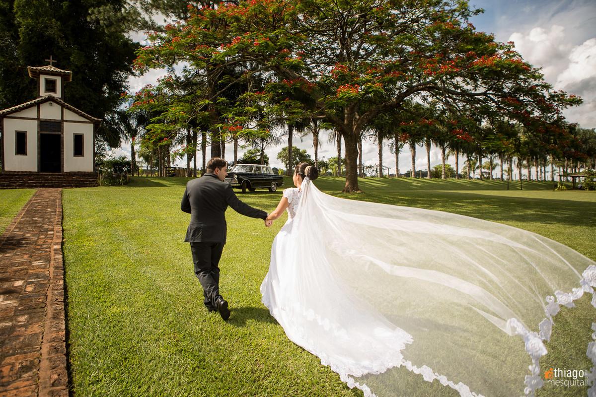 véu de noiva ao vento em Uberaba