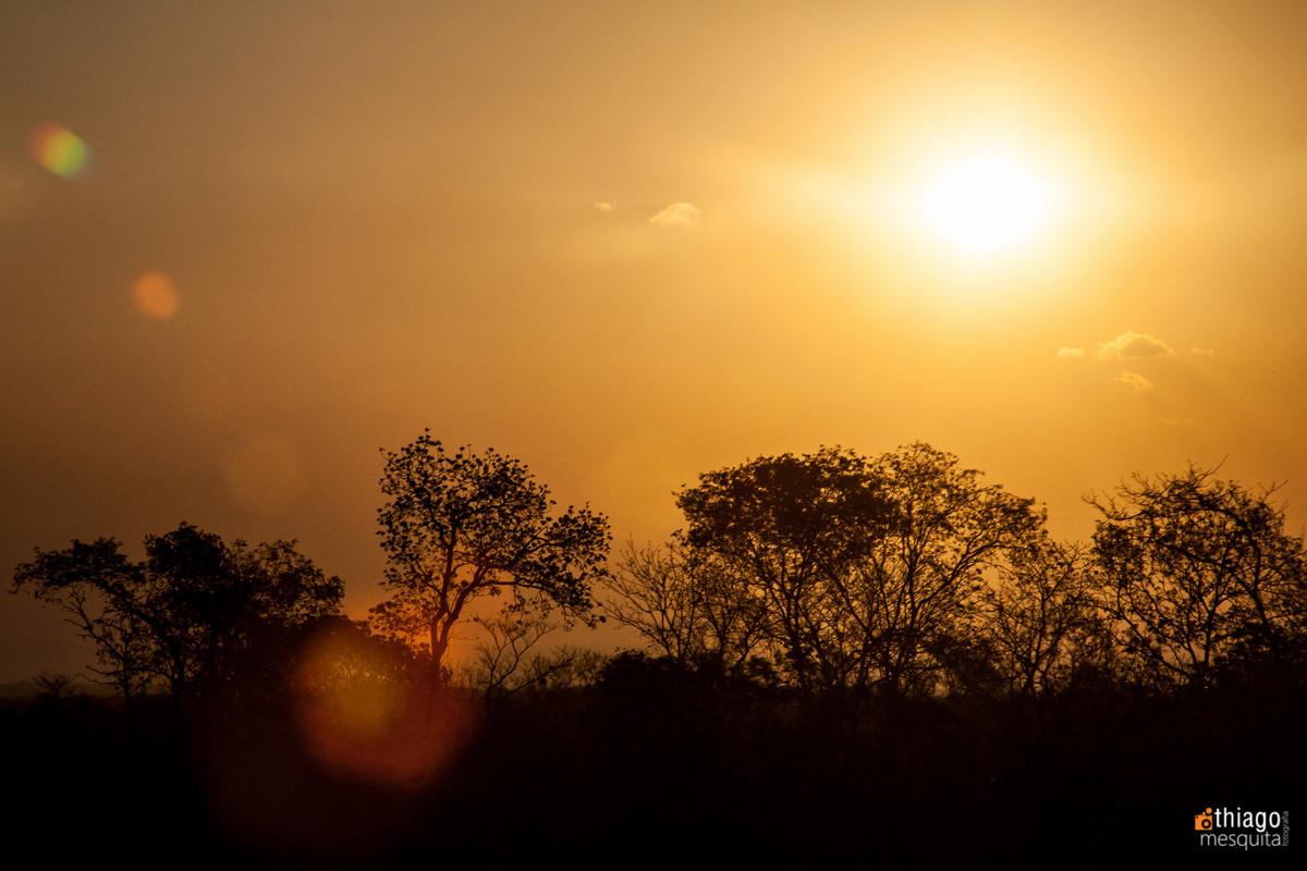sol silhueta moçambique