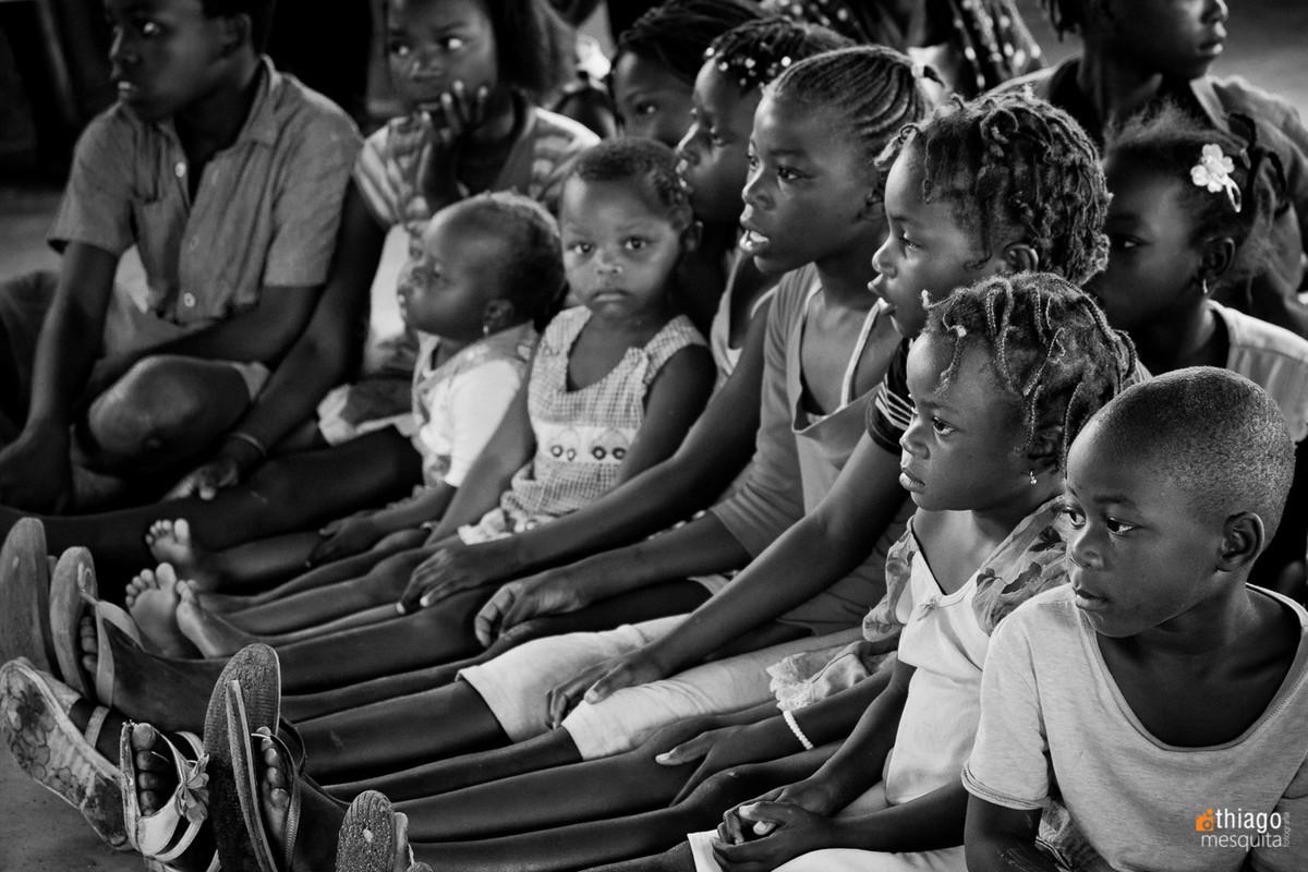 educação e ensino com crianças africanas