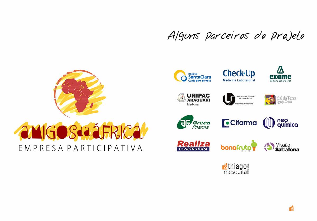 livro e projeto ong missão áfrica 2012 - parceiros