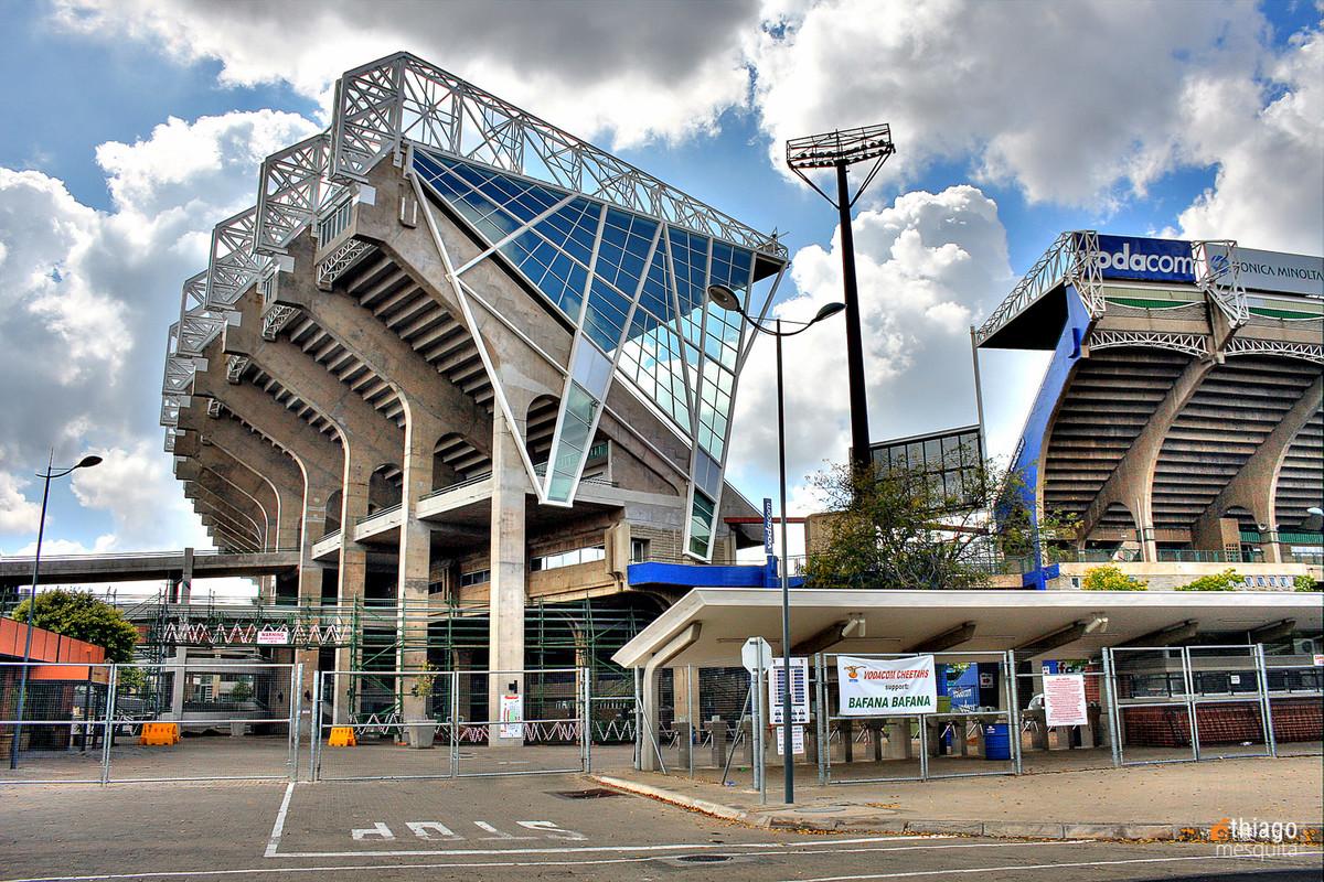 estádio que sediou jogos da copa na áfrica em - bluemfontein - south africa