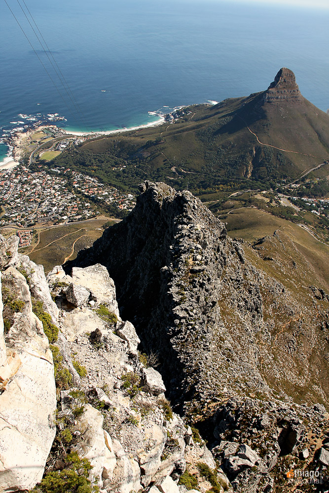 table montain - montanha da mesa - south africa - Africa do sul - view
