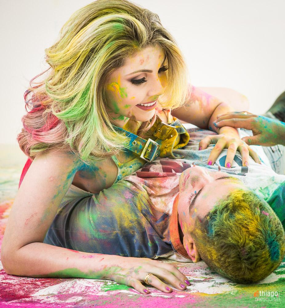 sessão de fotos com cor
