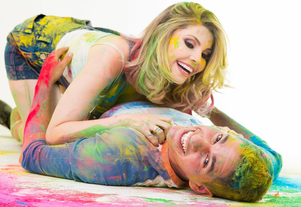 cores tinta em pó - colorido - sensulizando