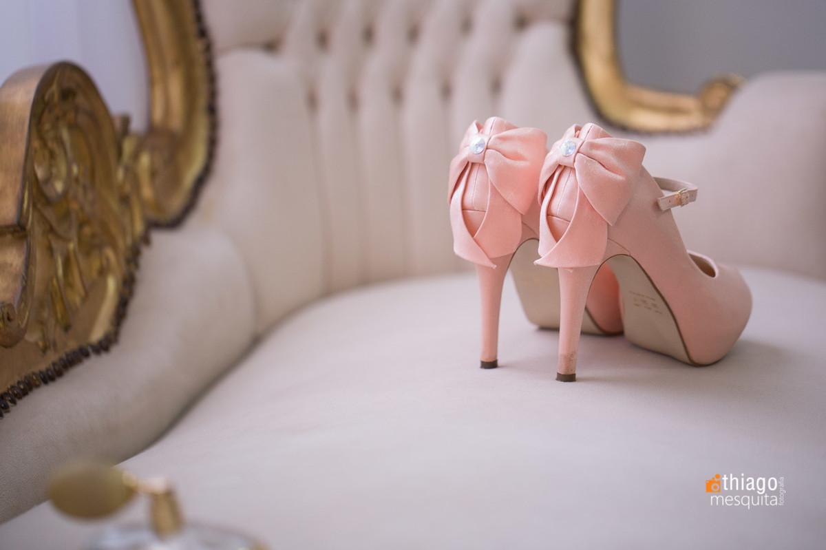 sapato rosa para noiva
