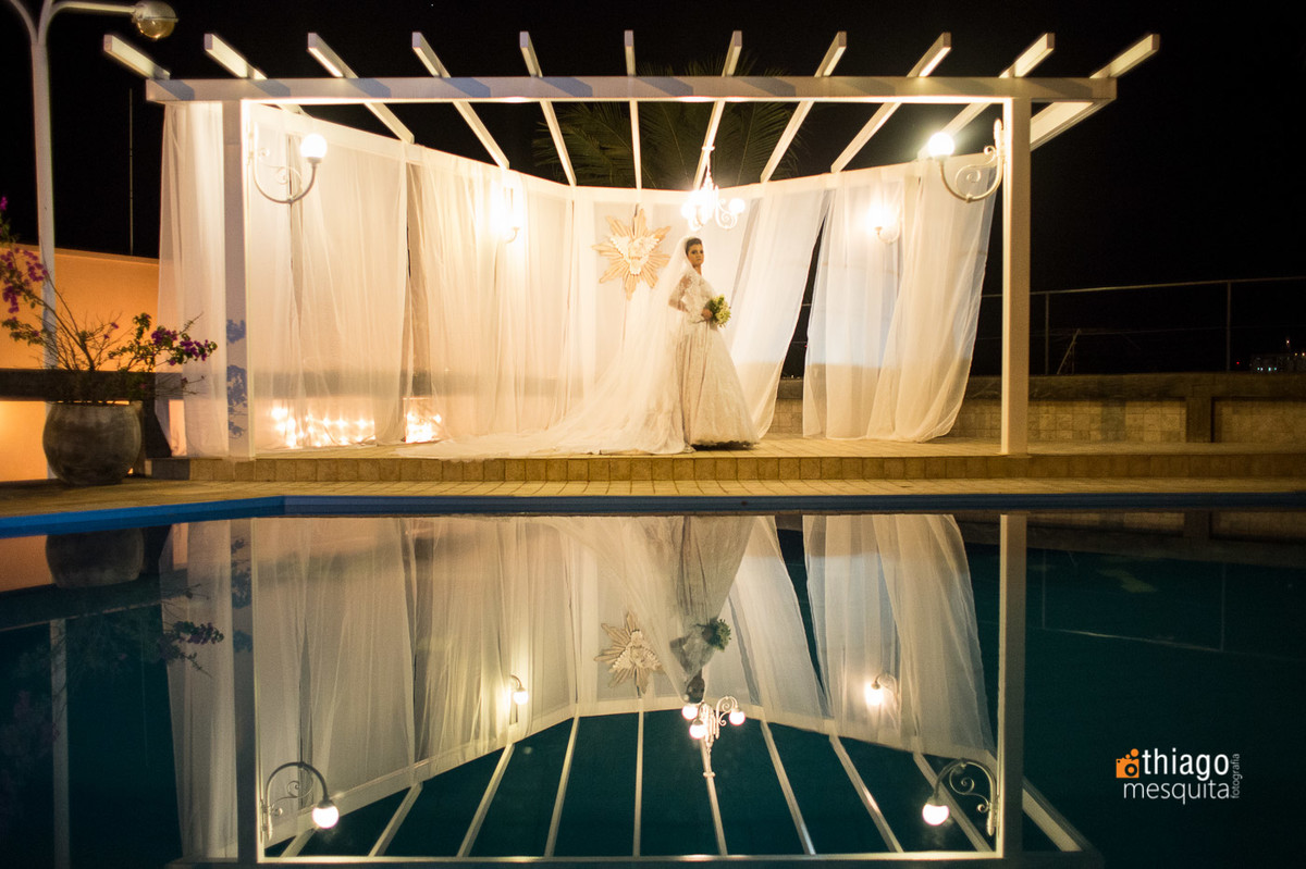 rildo noivas e noivos making of da noiva em uberlândia em frente a piscina