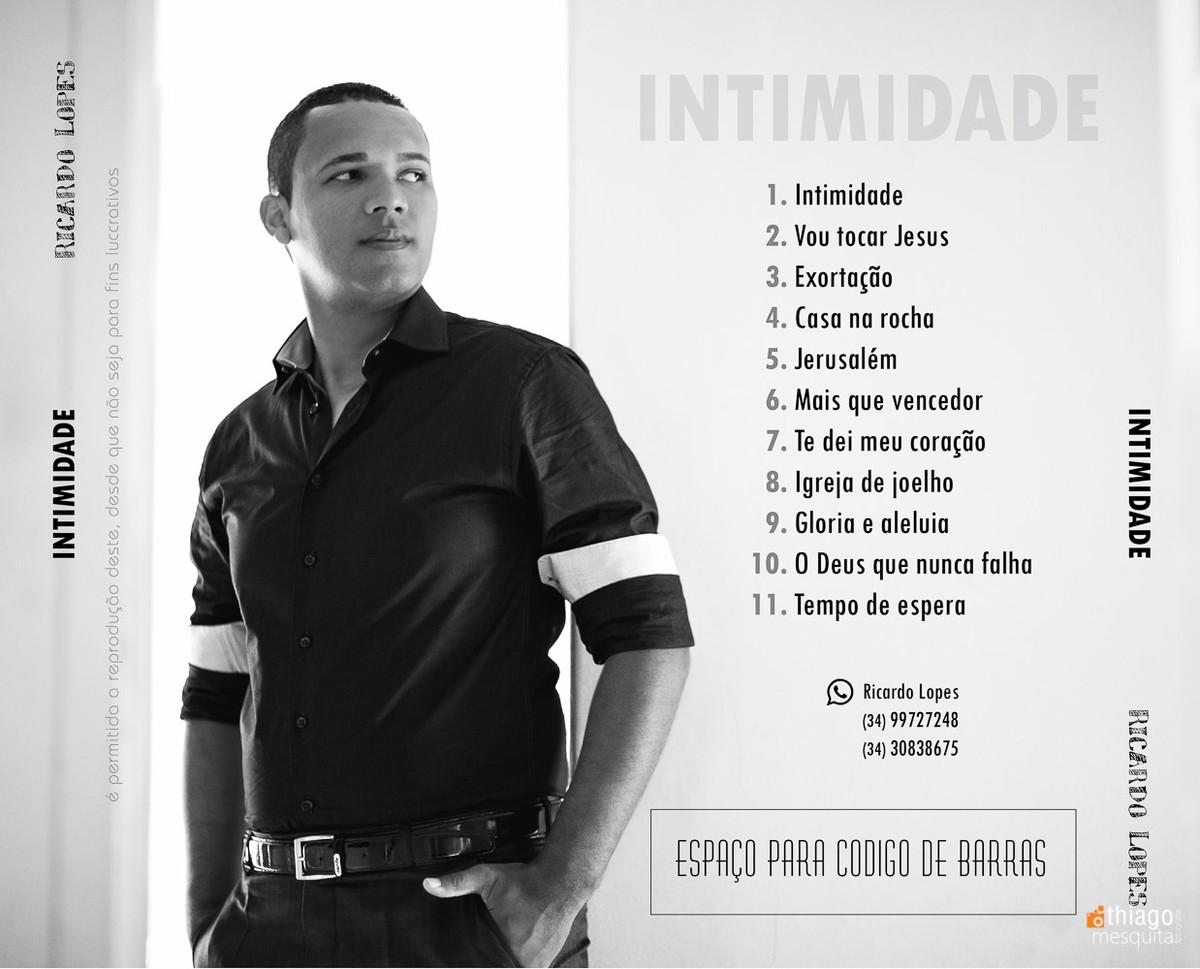 encarte para cd uberlãndia ricardo lopes cantor gospel uberlândia
