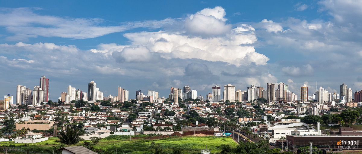 uberlândia vista panorâmica da cidade