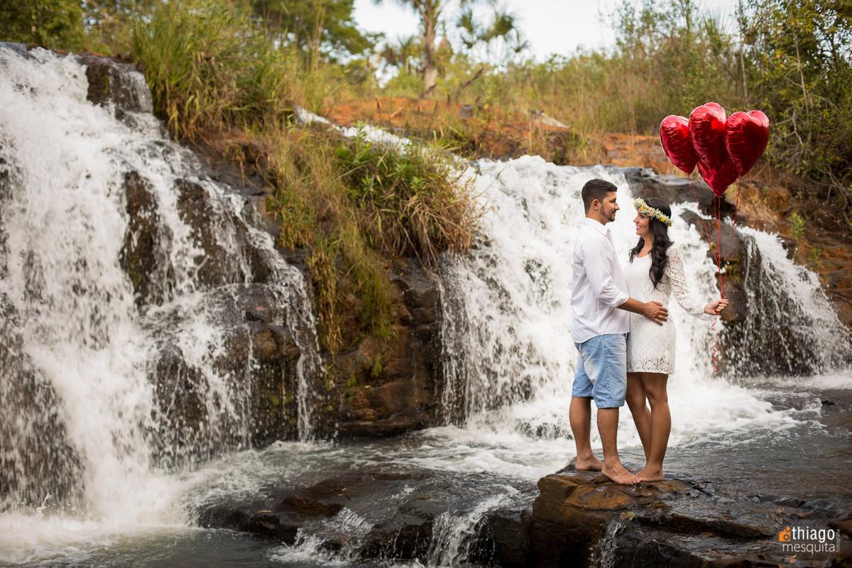 prewedding em uberlândia - referências - thiago mesquita - cachoeira solar dos ipes