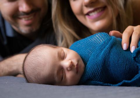 Família de Miguel - Letícia e Cassiano (NewBorn)