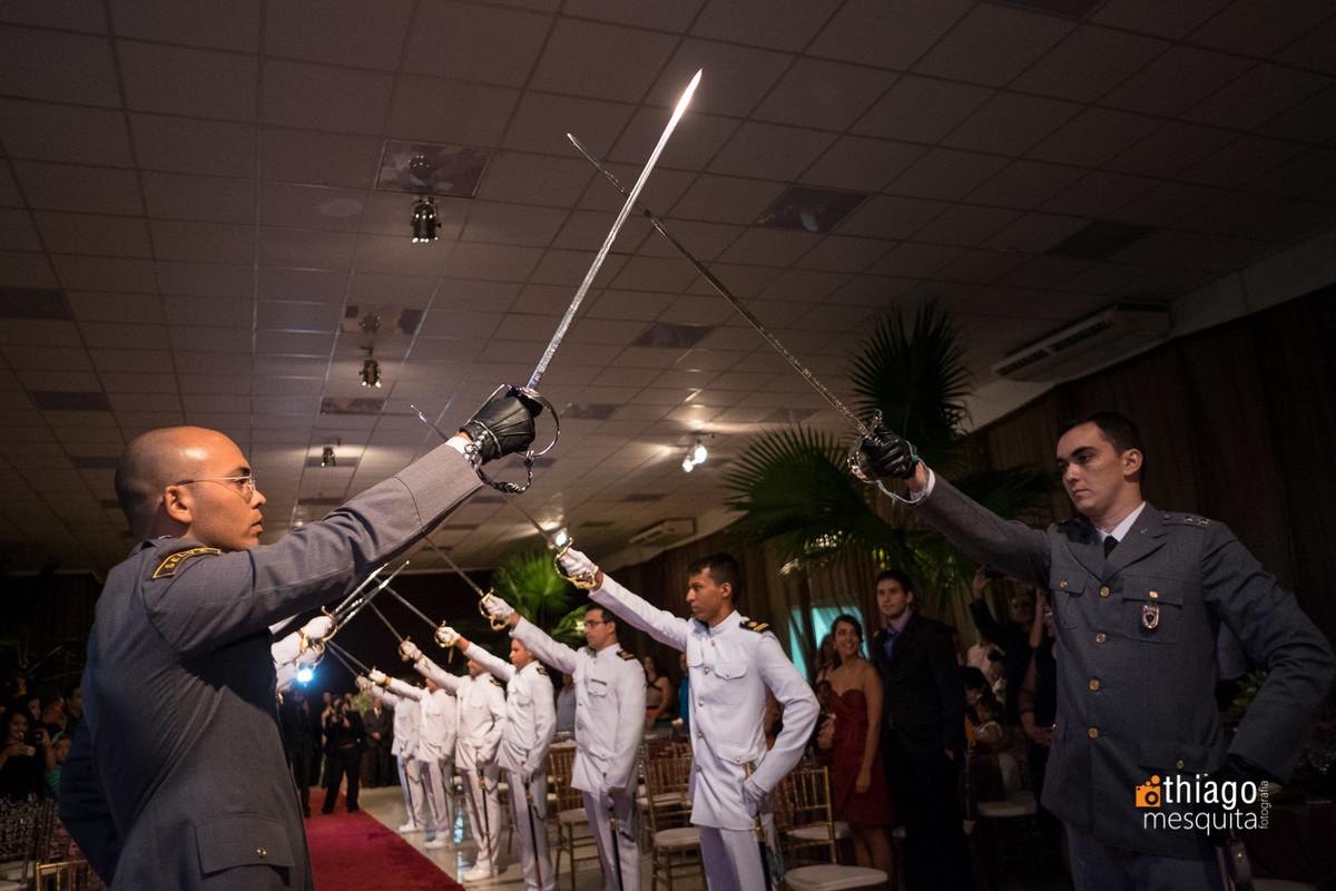 teto de aço evento de gala casamento militar marinha brasileira
