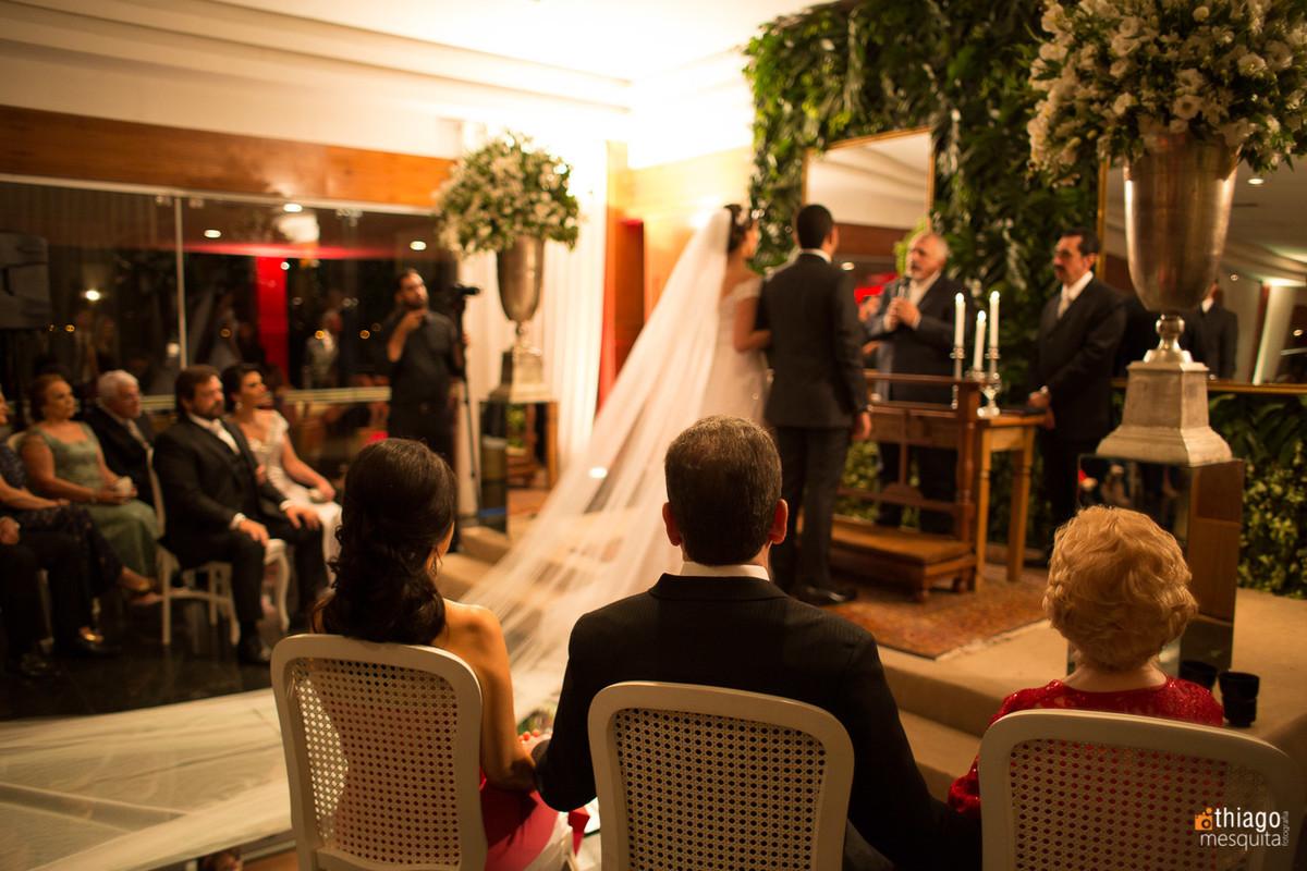 Cerimônia de casamento no clube Naval