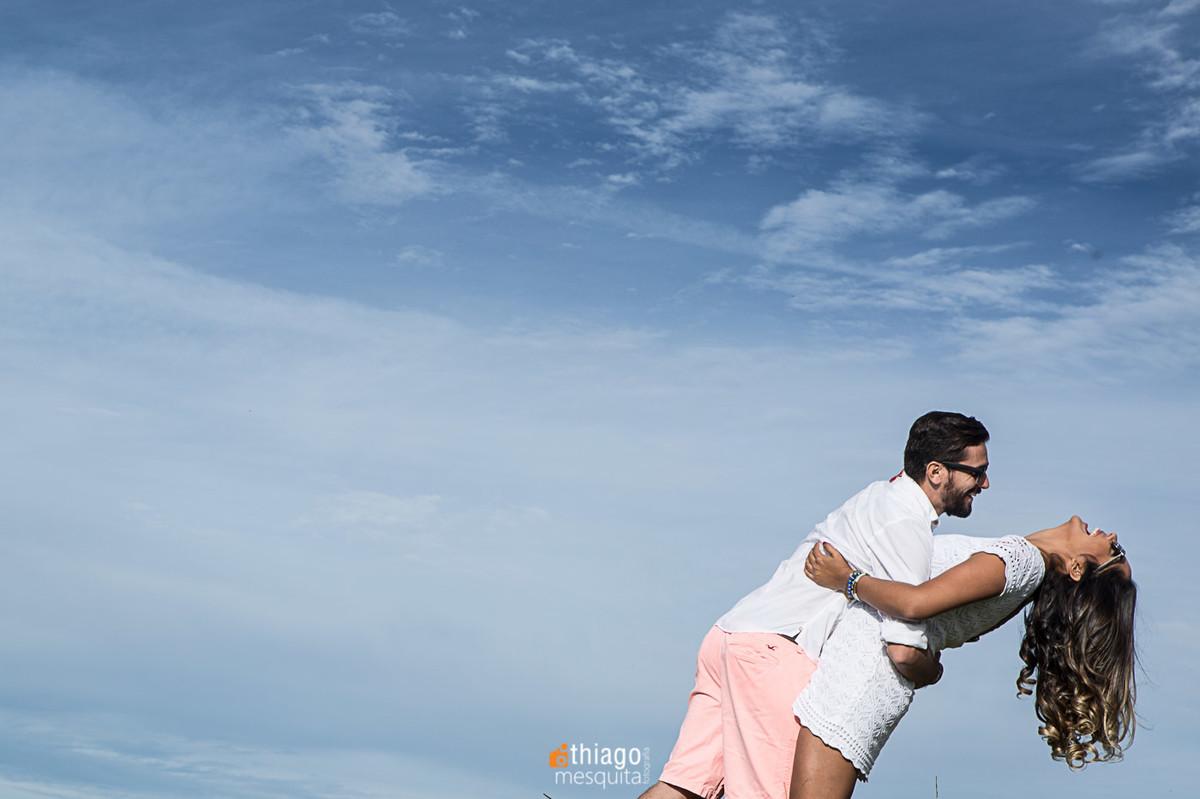 céu azul no ensaio de pre-casamento em araxá