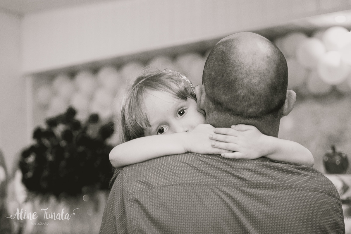 abraçando o papai