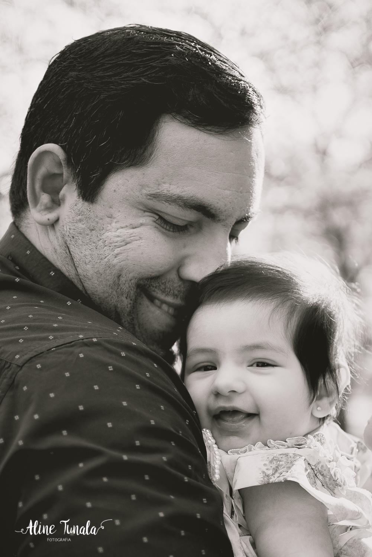 pai e filha de 4 meses na sua sessão de acompanhamento