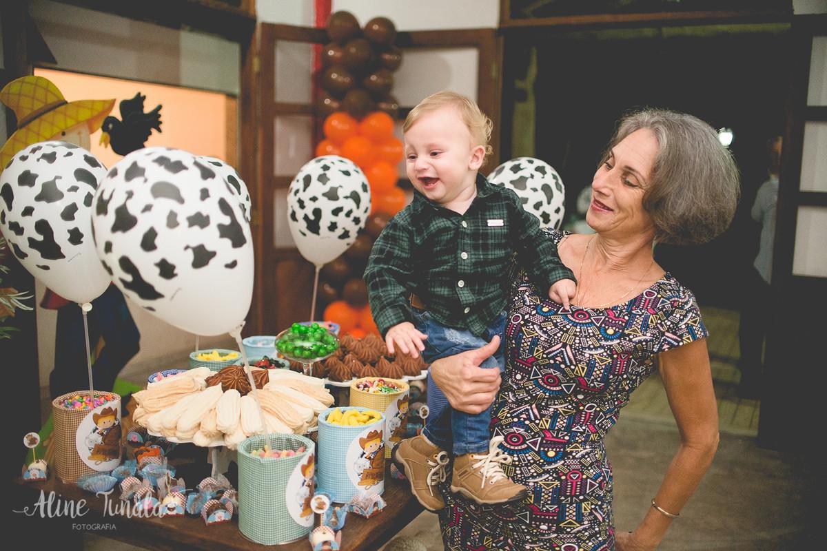 aniversário infantil de 1 aninho do Mario Henrique que aconteceu em fruteiras nova, Vargem Alta, ES. Festa com tema fazendinha com decoraçaõ de Jovana Donna.