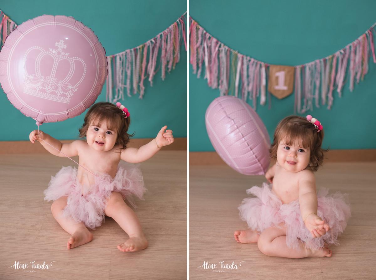 Sessão Smash the Cake, cake smash, para comemorar 1 ano, 1 aninho, Balões, estrelas, luzes natal, bebê 1 ano, 1 aninho, menina