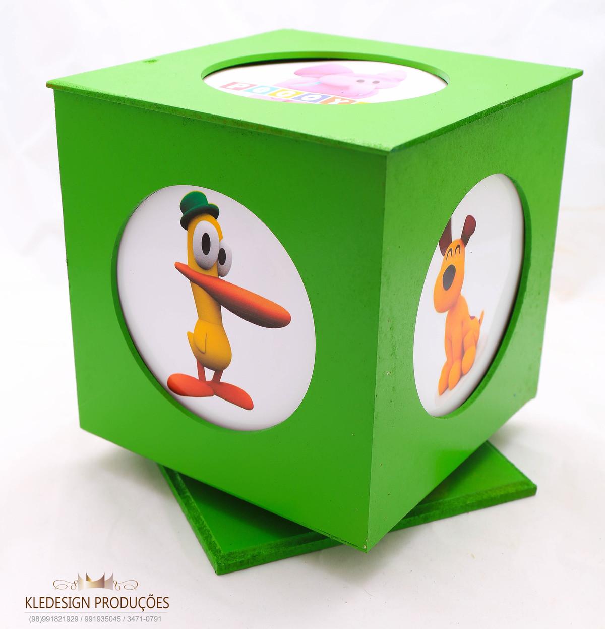 #lembrancinha pocoyo - caixa com porta retrato giratório