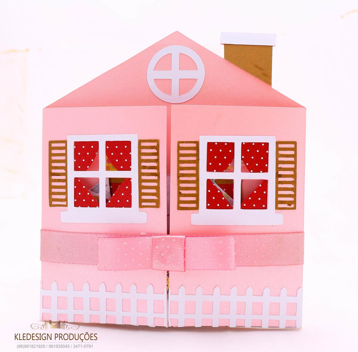 Convite casinha de boneca