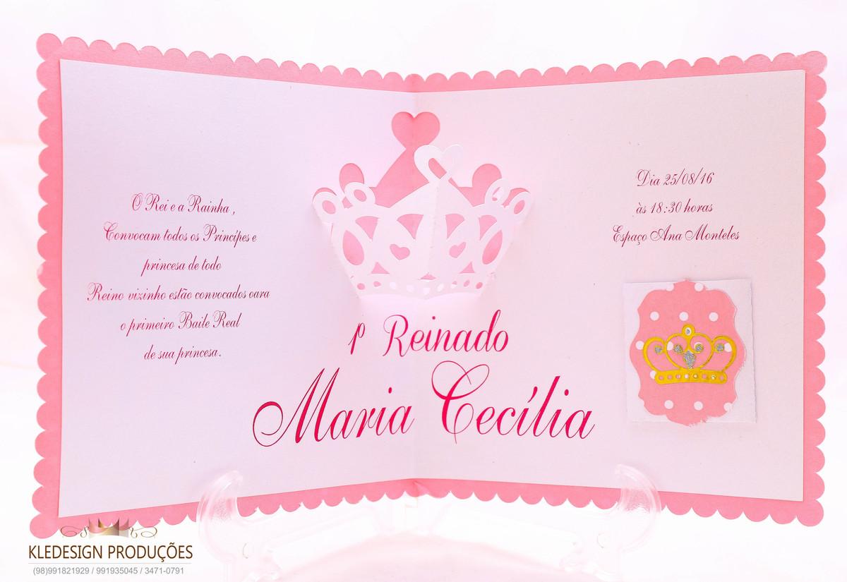Convite Princesa 3D