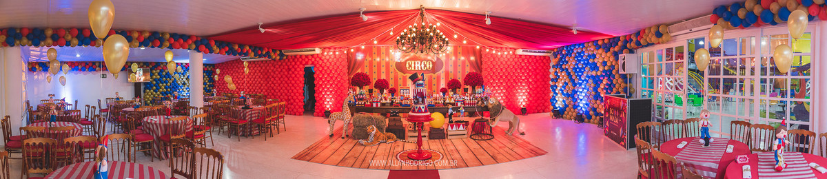 mesa completa aniversário tema circo
