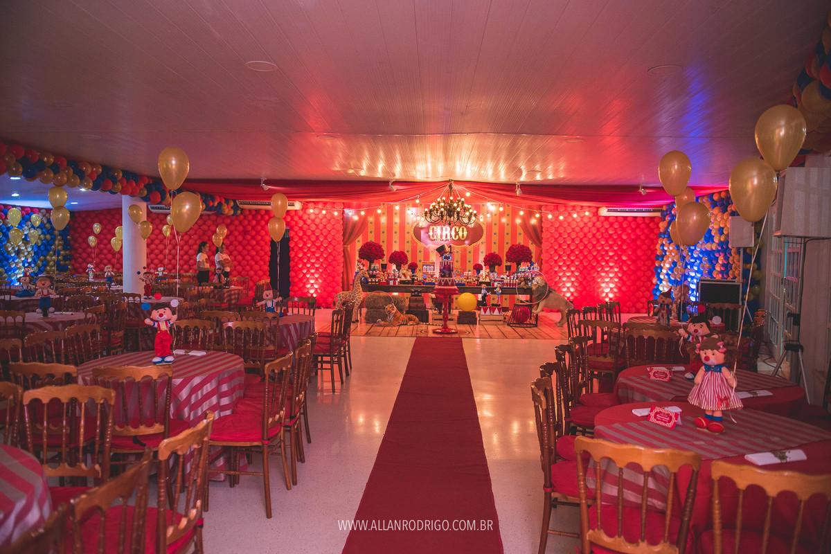 decoração completa aniversário tema circo