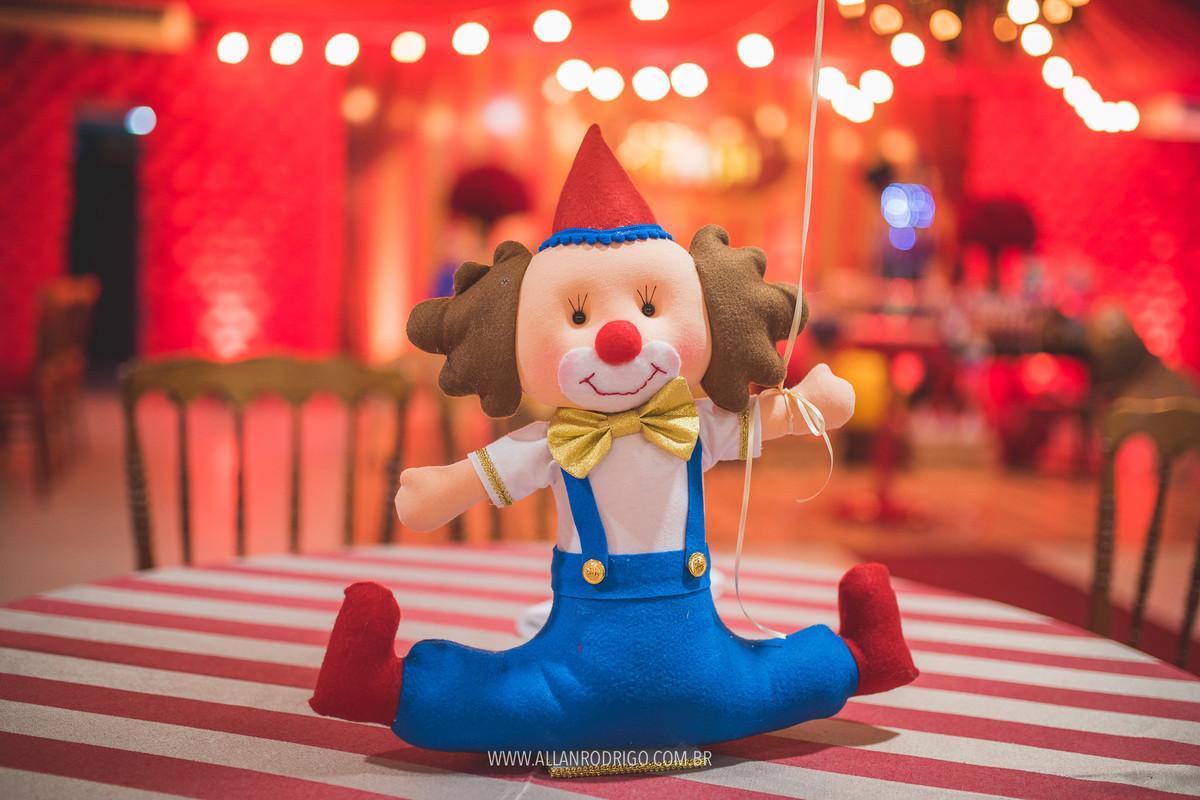 Lembrança de mesa no tema circo Aracaju