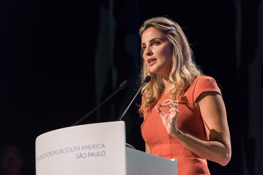 Primeira dama do Brasil Marcela Temer durante o Global Child Forum on South America fotografada pelo fotógrafo Romero Cruz