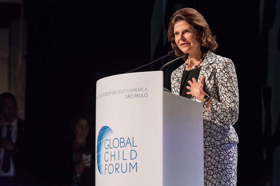 Rainha Silvia da Suécia durante o Global Child Forum on South America 2017 in São Paulo Brazil fotografada pelo fotógrafo Romero Cruz