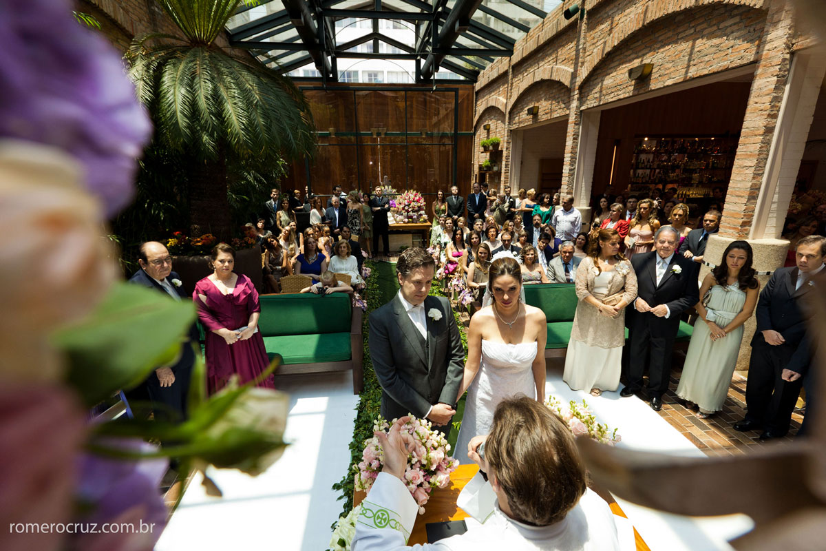 Romero Cruz fotógrafo de casamento fotografa casamento no Restaurante Cantaloup