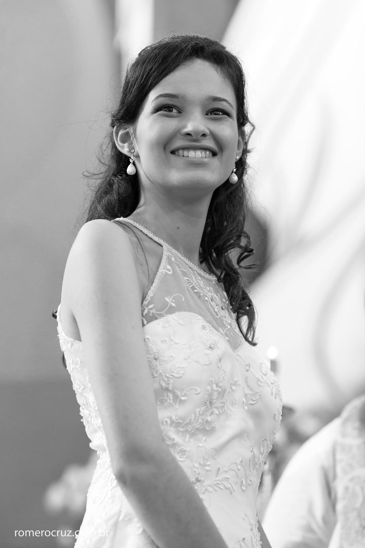Foto que captou a felicidade da noiva Amanda do fotógrafo Romero Cruz