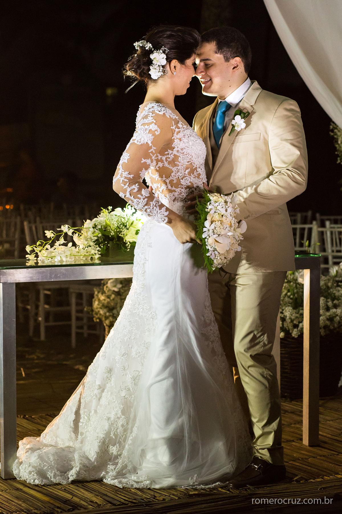 Foto do fotógrafo Romero Cruz no ensaio do casal Alysson e Marianne