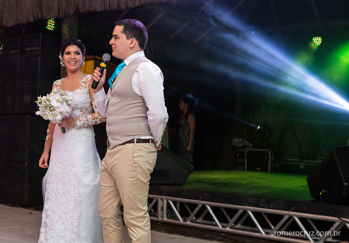 Foto da festa de casamento feita pelo fotógrafo Romero Cruz do casal Alysson e Maryanne