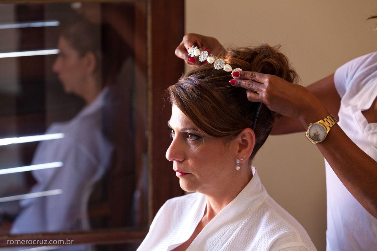 Fotografia do making of do casamento do casal Monica e Carlos