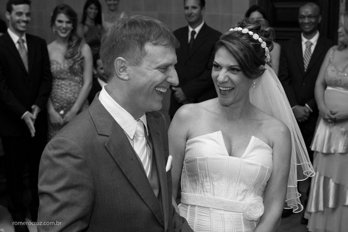 Amo fotografar a felicidade dos noivos no casamento