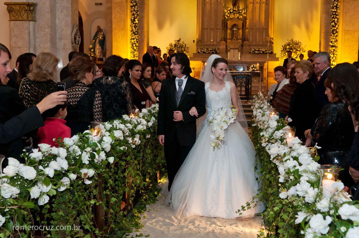 Casamento na igreja são José na rua Dinamarca, foto da saída dos noivos